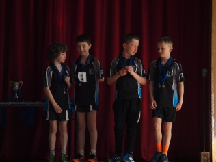 P6 boys coming in 3rd overall